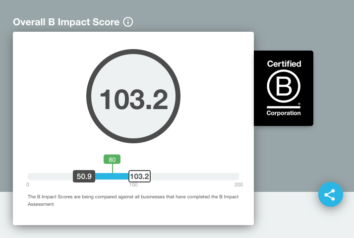 We are B Corp (Re) Certified